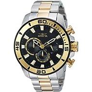 Men's 'Pro Diver' Quartz Stainless Steel Casual Watch, Color:Two Tone (Model: 22588)