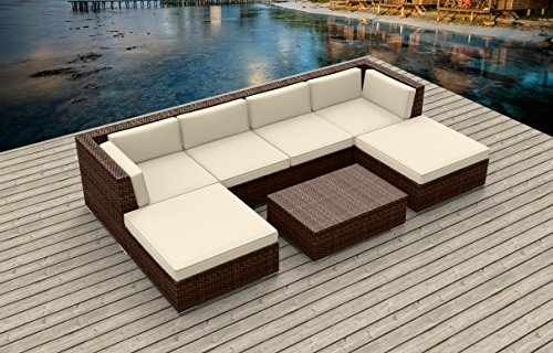 Urban Furnishing.net - Brown Series 7a Modern Outdoor Backyard Wicker Rattan Patio...