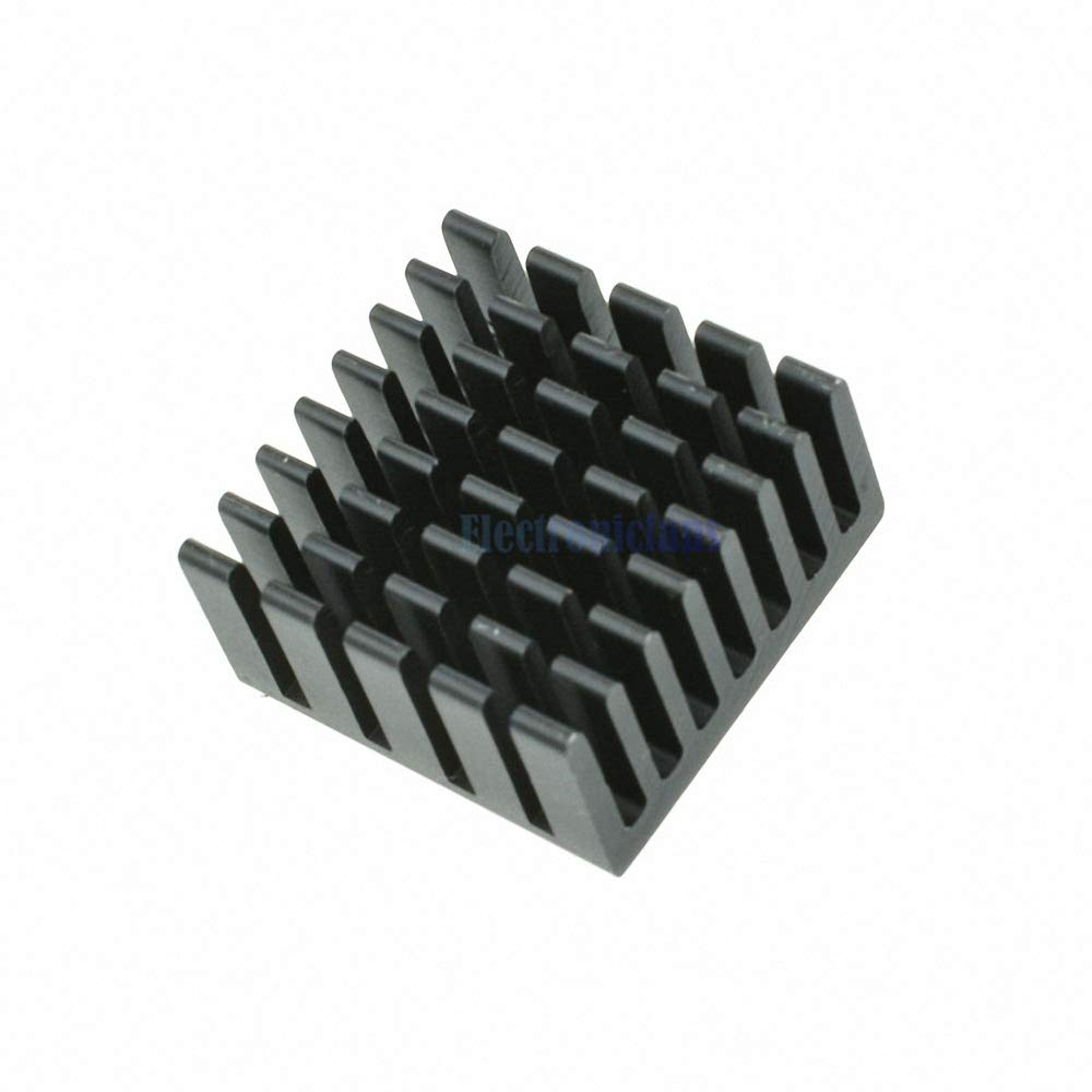 10PCS Radiating Fin 20x20x10mm Black Slot Routing CPU Cooling Fin Heat Sink