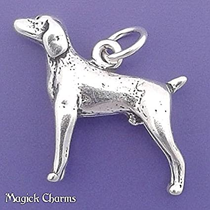 Amazon Com 925 Sterling Silver 3 D Weimaraner Dog Charm Pendant