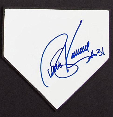 STEVE KARSAY SIGNED MINI WOOD & WHITE FORMICA FACE HOME PLATE YANKEES A's INDIANS ()