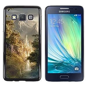 TopCaseStore / la caja del caucho duro de la cubierta de protección de la piel - Design Japanese Forrest Mountains - Samsung Galaxy A3 SM-A300