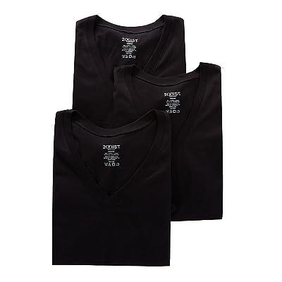 2(x) ist Men's Comfort Cotton V-Neck T-Shirt at Men's Clothing store