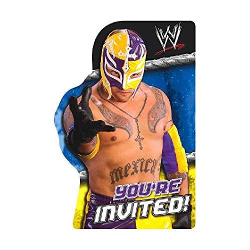 (Bargain World WWE Invitation (8/pkg) (with Sticky)