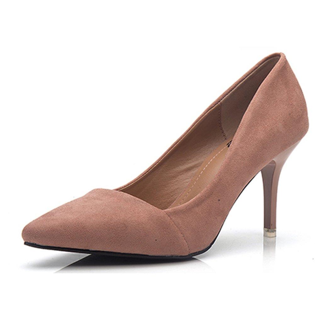Bbdsj Frauen High Heels Sexy Fashion Heels 8cm Spitzen Fersen Wildleder High Heels Profi damen Schuhe.Rosa