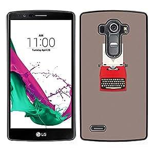 LG G4 / H815 H812 H810 H811 LS991 VS986 US991 Único Patrón Plástico Duro Fundas Cover Cubre Hard Case Cover - Heart Writing Love Writer Grey