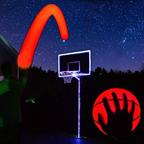 GlowCity Light Up Basketball Hoop Kit with LED Basketball - Blue, Size 7 Basketball (Official Size) ()