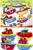 3 Bees & Me Bath Toys for Boys and Girls - Magnet Boat Set for Toddlers & Kids - Fun & Educational