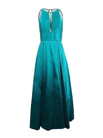 Aidan Mattox Womens Sleeveless Illusion Formal Dress At Amazon