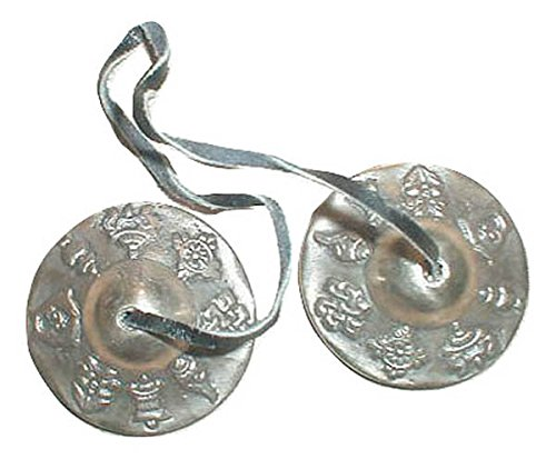 Tibetan Cymbals / Tingshas/ Meditation and Prayer Cymbals - Small by Tibetan