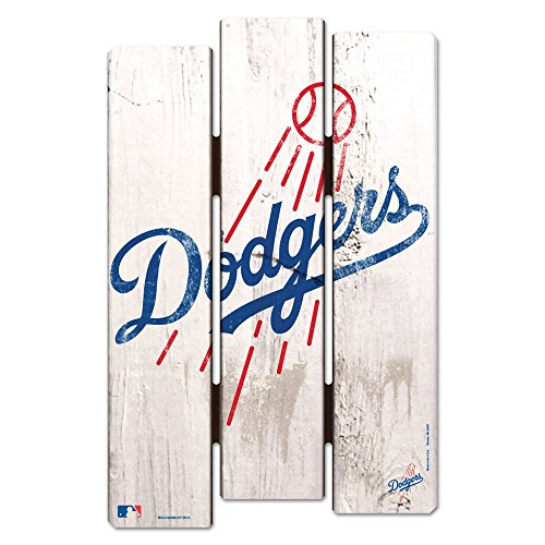 WinCraft MLB Los Angeles Dodgers Wood Fence Sign, - Sign Mlb
