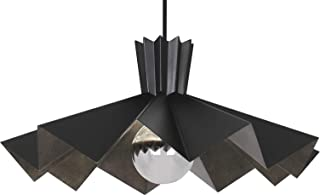product image for Robert Abbey BLK69 Rico Espinet Bat - One Light Pendant, Matte Black Painted Finish with Matte Black Painted Metal/Patina Nickel Shade