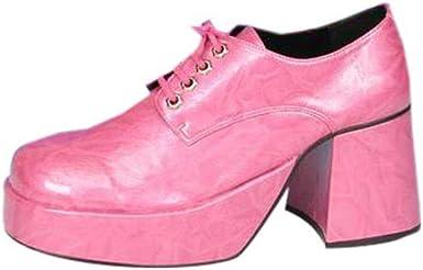 Adult's Pink Platform Shoes (Size:Large
