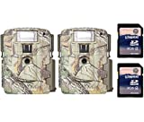 (2) Moultrie Xenon Strobe White Flash D-80 Mini Trail Game Cameras + SD Cards