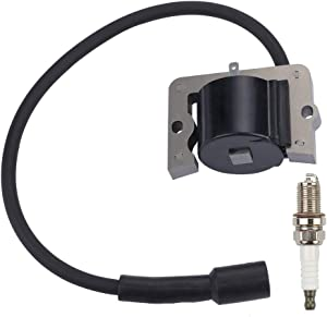 Dalom 12 584 04-S Ignition Coil Module with Spark Plug for Kohler CV11 CV12.5S CV13S CV14S CV15S CV15ST Engine Mower John Deere GT225 LT133 LT155 LT160 LX173 LX255 LX266 1258404S 12-584-01S