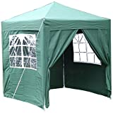Airwave 2x2m Waterproof Green Garden Pop Up Gazebo - Stunning Outdoor Marquee Tent with Carry Bag