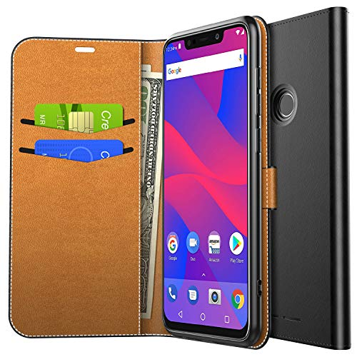 93d2aa1b2 Yocktec Case for BLU VIVO XL4, Ultra Slim Premium PU Leather Flip Wallet  Case with