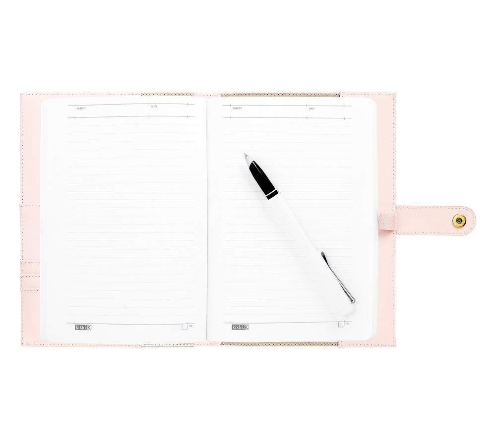 kikki.K A5 Leather Notebook: Pink