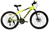 Hercules Roadeo A75 26' Hard Tail Dual Disc Brake Stylish Sporty Neon Green Alloy Bike/Bicycle For Boys