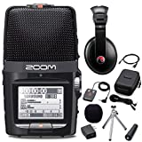 Zoom H2n Digital Multitrack Recorder w/ Accessory Pack & Resident Audio R100 Headphones - Bundle
