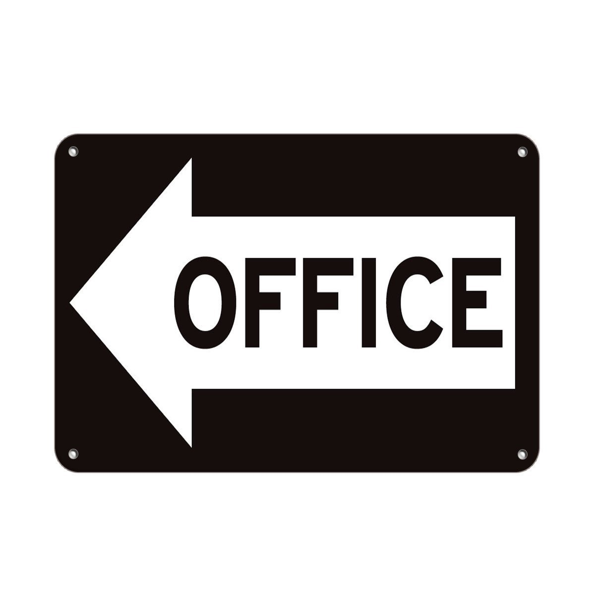 Personalized Metal Signs Office Left Arrow Business Sign Business Directional Sign Aluminum METAL Sign 8 X 12 Inch