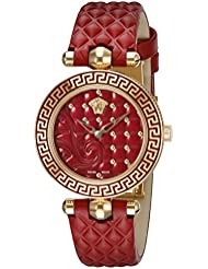 Versace Womens VQM030015 Vanitas Micro Analog Display Swiss Quartz Red Watch