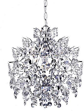 Elegant Indoor 3-Light Chrome/Crystal Chandelier
