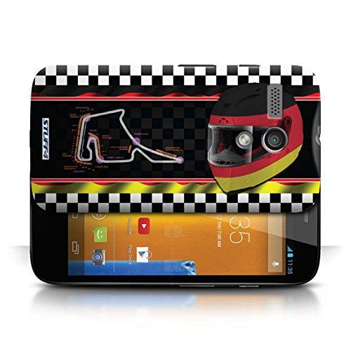 Etui / Coque pour Motorola MOTO G (2013) / Allemagne conception / Collection de F1 Piste Drapeau