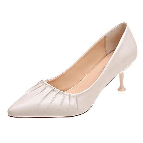 SANFASHION Mules Bout Pointu Moderne Femme Escarpins Élégant Bouche Peu  Profonde Chaussures Classique Stiletto Haut Talon 78260dd80819