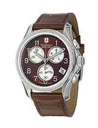 Swiss Army Chrono Classic Steel Womens Strap Watch Quartz Brown & MOP Dial 241420