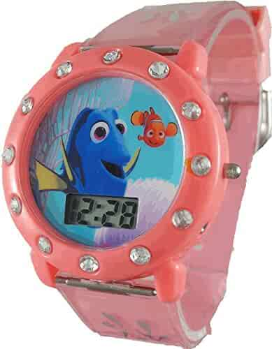 Disney Girl's 'Finding Dory' Peach Digital Watch (FDO3016ST)