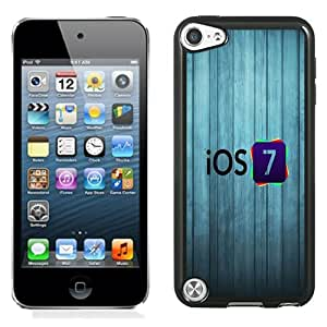 New Fashionable Designed For iPod Touch 5th Phone Case With iOS 7 Logo with Wood Background Phone Case Cover