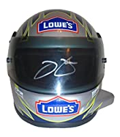 Nascar Jimmie Johnson Autographed Hand Signed Lowes 1:3 Scale Riddell Nascar Racing Mini Helmet with Proof Photo of Signing, Sprint Cup Series, COA from Riddell