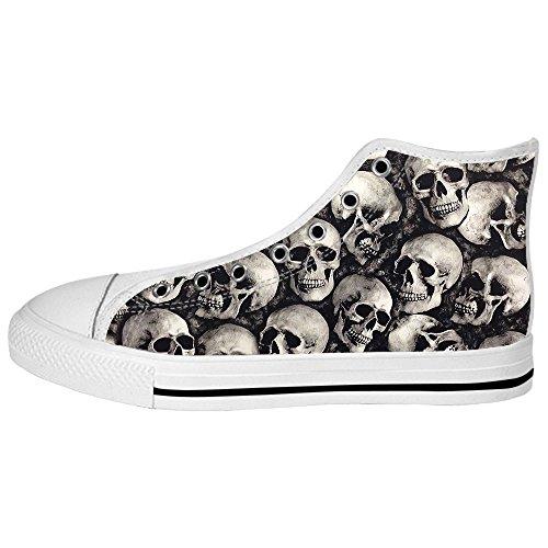 Teschio Da Tetto Scarpe Lacci I Ginnastica Alto Custom Women's Shoes Delle Canvas Fdxwqq687