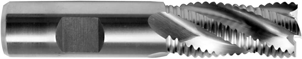 3//4 x 3//4 Shank Cobalt Steel Roughing Center Cutting End Mills USA Coarse Tooth