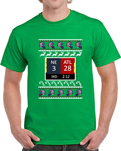 Tshirtczar Cool The Comeback New England Vs Atlanta Superbowl Li 3Rd Quarter Score Football Christmas T Shirt L Irish Green