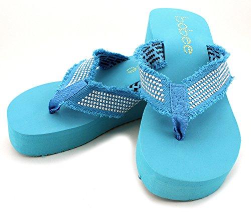 Bobee Womens Platform Beach Sandal