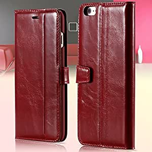 10Pcs Genuine Leather Case Flip Cover For Iphone 6 Plus 5.5 inch Cell Phone Bag With Card Insert Stand Full Case For Iphone 6+ --- Color:White