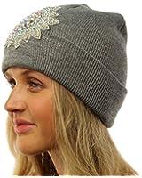 Winter Beautiful Aurora Borealis Crystal Thick Warm Knit Beanie Ski Hat Cap