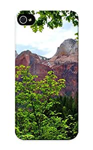 Ednahailey Iphone 5/5s Hybrid Tpu Case Cover Silicon Bumper Mountains Rocks Nature Trees Branches