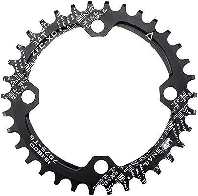 Plato para cadena única de bicicleta Fomtor de 32, 34 o 36 dientes ...