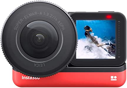 Insta360 ONE R 1-Inch Edition Co-Engineered with Leica – 5.3K 30fps Action Camera with 1-Inch Sensor, 4K 60fps, Stabilization, IPX8 Waterproof, 19MP