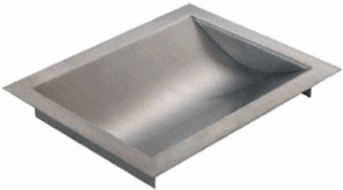 CRL Standard 12'' Wide X 10'' Deep X 1-9/16'' High Brushed Stainless Finish Drop-In Deal Tray by CRL (Image #1)