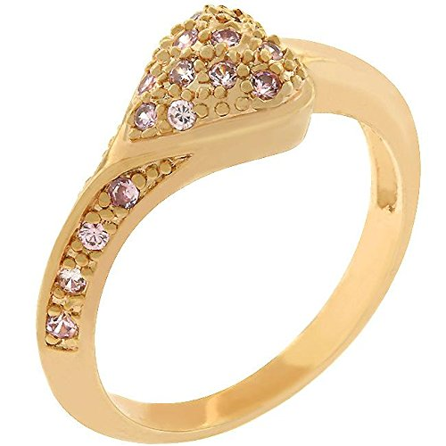 WildKlass Rose Heart Ring - 18k Gold Electroplated Mens Ring
