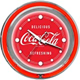 Coca-Cola Chrome Double Ring Neon Clock, 14''