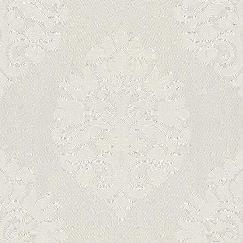 545777 - En Suite Damask Ivory & White Galerie Wallpaper
