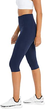 Rockwear Activewear Women's 3/4 Curve Seam Detail Tight from Size 4-18 for 3/4 Length Bottoms Leggings + Yoga Pants+ Yoga Tights