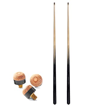 2 x 36 inch pool 7 tips; ideal 1st cue for child or for tight spots around home tables snooker cues