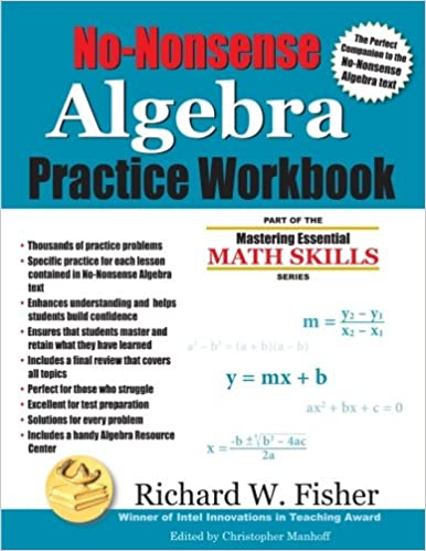 No-Nonsense Algebra Practice Workbook (Mastering Essential Math ...