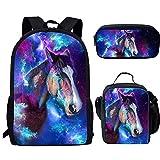 Instantarts Galaxy Horse Printing Teen Boy Shoulder
